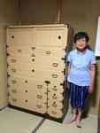 関市に修理依頼の桐タンス納品