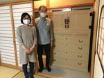 飛騨市古川町より修理依頼の桐たんすを納品してきました。