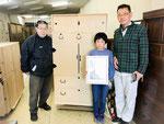 長野県伊那郡より修理依頼の桐たんすを引取り訪問くださいました。