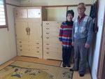 大垣市より修理依頼の桐タンスを岐阜市に納品してきました。