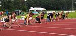 Start 75m... Paula sprintet in 10,60s auf Platz 1 :)