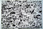 Cognée Philippe, Petite médina,  2004, 80 x 113 cm.  Estampe et gravure sur bois ©ADAGP, Paris 2011