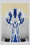 Discrit Julien, After Hockusai, 2006, 69 x 42 cm. Sérigraphie
