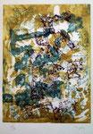 Bryen Camille, Arabelie, 1973, 41 x 31 cm sur rives 66 x 50 cm. Eau-forte et aquatinte ©ADAGP, Paris 2011
