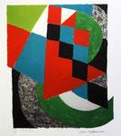 Delaunay Sonia, Damier vert, Sans date, 42 x 34 cm sur arches 66 x 50 cm. Lithographie