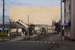 Вид на місто з району пивзаводу - зараз тут міст через Устю.