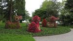 Freitag: Kunstvoll geschnittene Blumenarrangements in den Gärten auf der Insel Mainau.