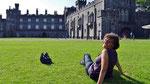 Samstag: Schlosspark vor dem Kilkenny Castle.