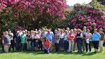 Freitag: Gruppenfoto im Garten des Muckross House.