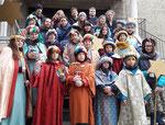 Zweiter Tag: 26 Kinder und Begleiter, 5 Gruppen.