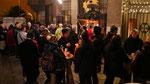 Punschhütte nach der Christmette (am vierten Adventsonntag)