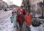 Dienstag 6.Jänner nachmittags, Gruppe 2 auf der Wilhelminenstraße