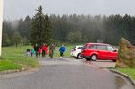 Samstag nachmittags: auf unserer Wanderung zur Giselawarte beginnt es zu regnen