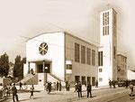 Kirche nach der Einweihung, 1936
