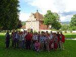 Samstag: Gruppenfoto im Schlossgarten von Salem.