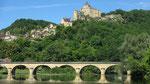 Dienstag: Bootsfahrt auf der Dordogne mit Blick auf die Burg Chateau de Castelnaud