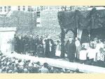 Grundsteinlegung durch Weihbischof Kamprath, 1935