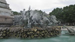Mittwoch: Bordeaux, Brunnen beim Monument aux Girondins auf dem Place des Quinconces
