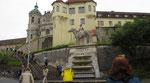 Donnerstag: Aufgang zur Benediktinerabtei in Weingarten.