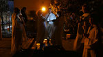 Auferstehungsfeier am Ostersonntag  um 5:00 Früh, Osterkerze mit dem Osterfeuer entzünden