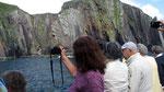 Donnerstag: Scharfkantige Felsenküste in Dingle.