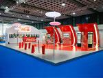 Messestand für Coca-Cola Deutschland in Zusammenarbeit mit surpreyes GmbH