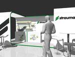 Messestand für Straumann GmbH in Zusammenarbeit mit die Guerillaz und sxces Communication AG