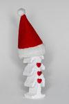 Weihnachtsbaum mit Herzen und Mütze