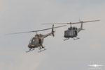 Bell OH-58B Kiowa  und Augusta Bell 212