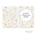 Klappkarte 'Klitzekleine Glückwünsche' |  Best-Nr. MZG_07 | Außenseiten bedruckt | Falz lange Seite | 10x14 cm