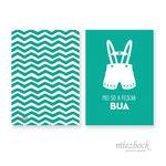 Klappkarte 'Bua' | Best-Nr. MZG_11  | Außenseiten bedruckt | Falz lange Seite | 10x14 cm