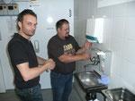 Zerscht mal Händ wäschä