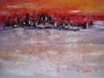 Manhattan at Dawn - abstract painting
