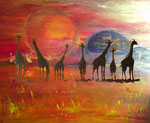 Africa Impressions - Oil on canvas with post production effects - unverkäuflich