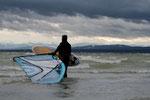 Surfen am Ammersee  - Bucht von Stegen