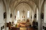 Innenansicht Wallfahrtskirche Mariä Himmelfahrt Aufkirchen