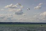 Kitesurfer am Starnberger See