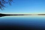Starnberger See Blick von Berried nach Norden. Januar 2011