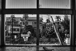 "Stazione dei treni abbandonata, Okuma City, Fukushima ""No-Go Zone"", Giappone"