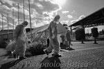 Lavoratori che rientrano dal proprio turno di lavoro alla centrale nucleare id Fukushima Daiichi, J Village, Naraha