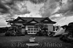 villa abbandonata con barca parcheggiata dallo tsunami, Odaka