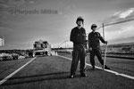 """Posto di blocco, Minamisoma, Fukushima """"No-Go Zone"""", Giappone"""