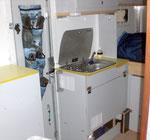 Gaskocher und Kühlschrank