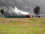 Im Nationalpark Tierra del Fuego bei Ushuaia ist die Dampfbahn für Touristen restauriert worden