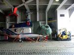 Selbst Helikopter finden Platz