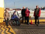 Erster Ausflug mit unseren Mitreisenden in Tilbury, England