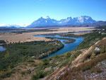 Sicht aus Süden zum Nationalpark Torres del Paine