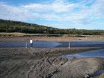 Grenzfluss Bellavista zwischen Argentinien und Chile, es gibt keine Brücke