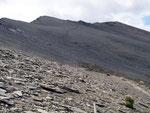 Der Aufstieg zum Cerro Guenaco im Nationalpark Tierra del Fuego auf den letzten 300 Höhenmeter zum Gipfel