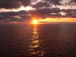 ...und freuen uns auch an den Sonnenuntergängen